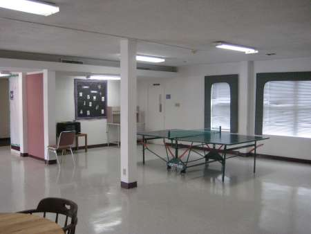Lobby with ping pong table