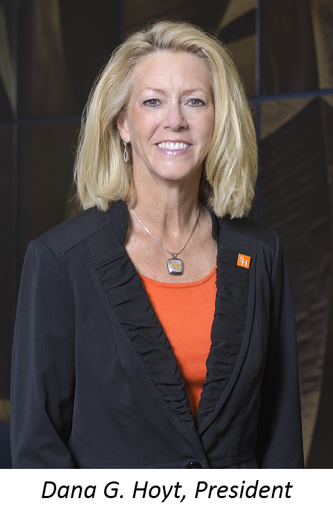 Photograph of SHSU President, Dana G. Hoyt