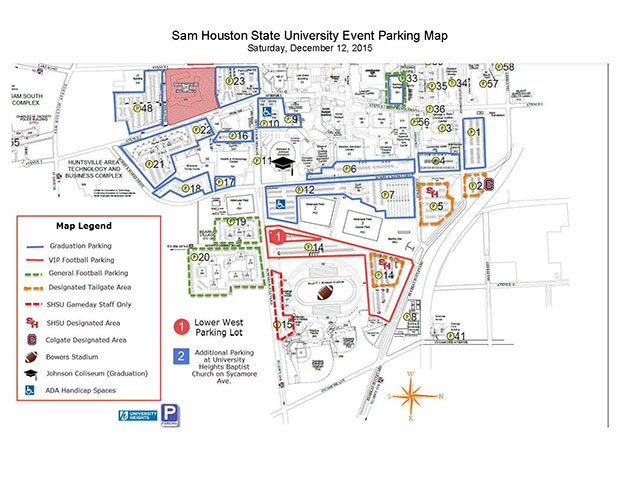 Updated Parking Information For Saturday Sam Houston State University