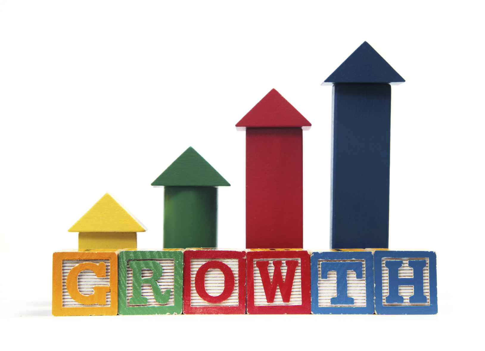 building blocks displaying growth