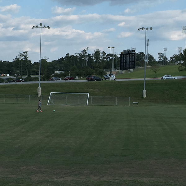 intramural fields with soccer goal