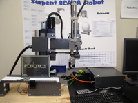 Mentor robot in the Sower Business Technology Lab at SHSU