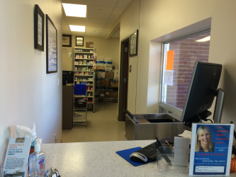 Snap shot of the new Pharmacy with walk up window