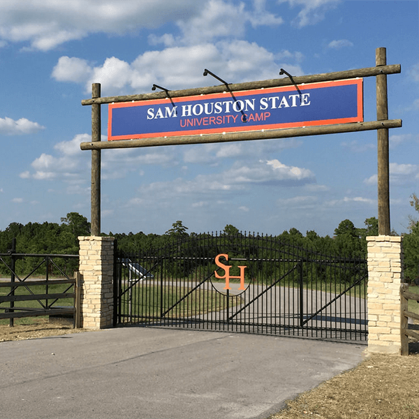 SHSU Camp Entrance Gate