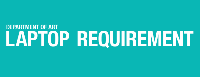 laptop requirement banner graphic blue