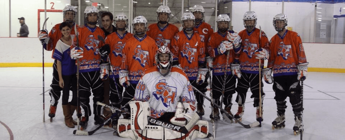 inline hockey club group picture