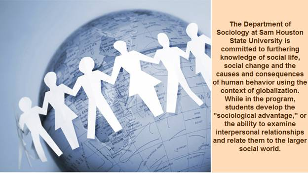 The Department of Sociology at SHSU is committed to knowledge of social life.