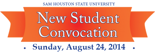 SHSU New Student Convocation on Sunday August 24, 2014