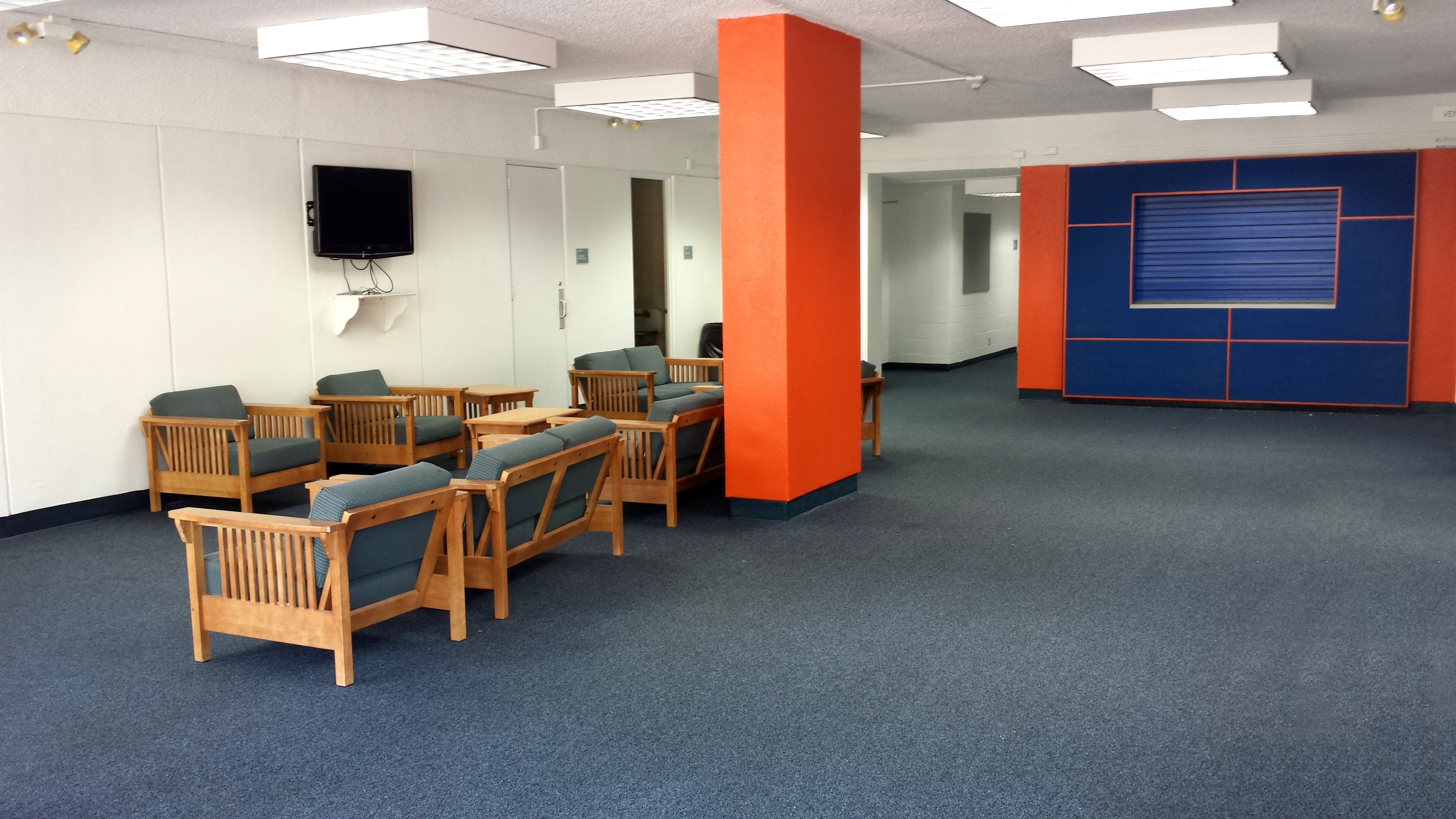 This is an image of the lounge in White Hall