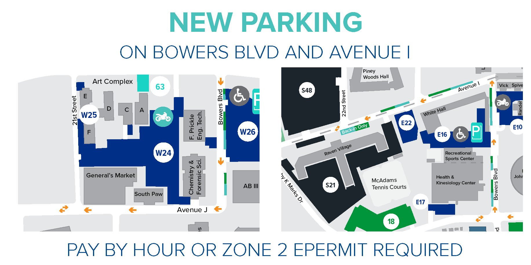 New Parking on Bowers Blvd & Avenue I