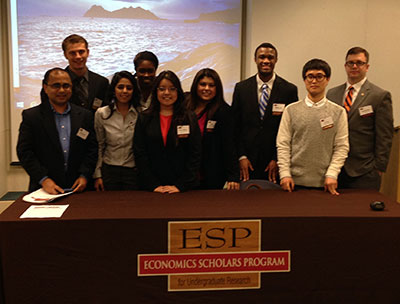 students and dr. nath at the ESP conference