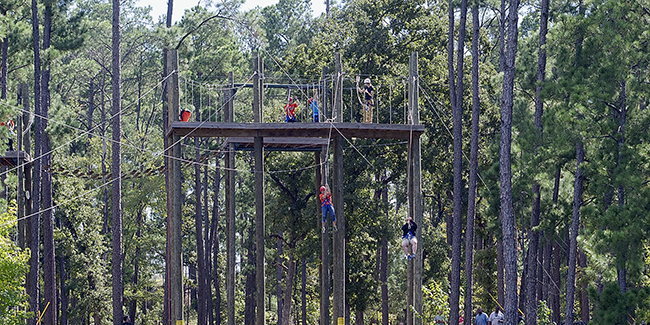 participants on ropes course