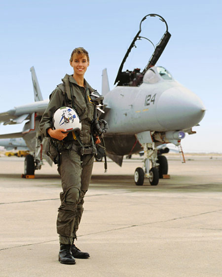 Carey Lohrenz in the Navy