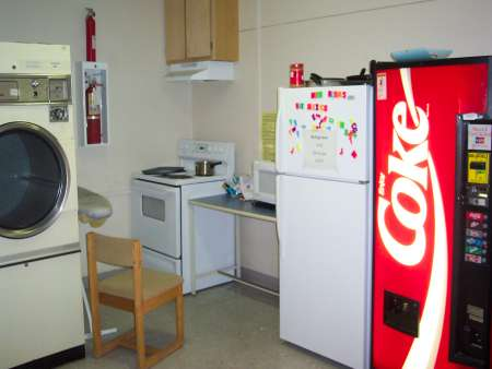Lounge with vending machine