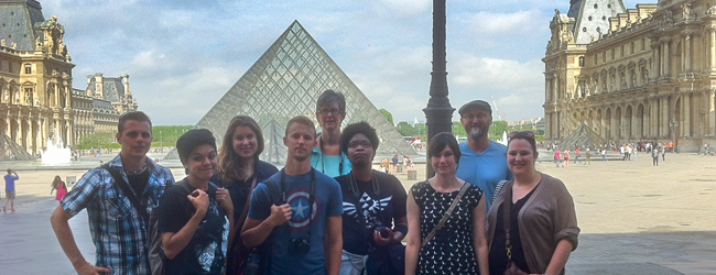 SHSU Art students in Paris at the Louvre, Summer 2014