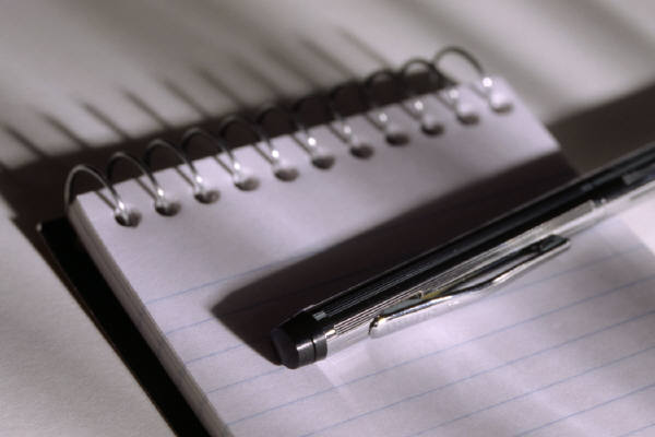 a blank notepad