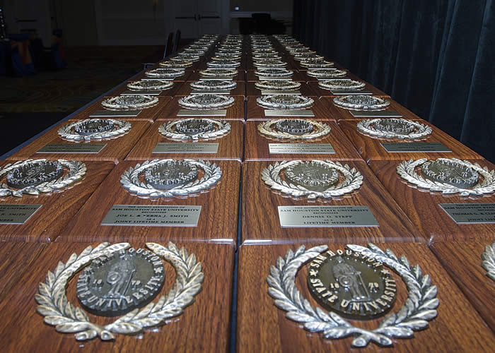 Life member plaques presented during the annual Life Member Celebration