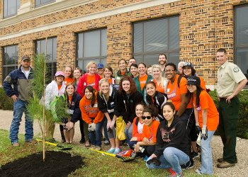 Sam Houston Celebrates Arbor Day!