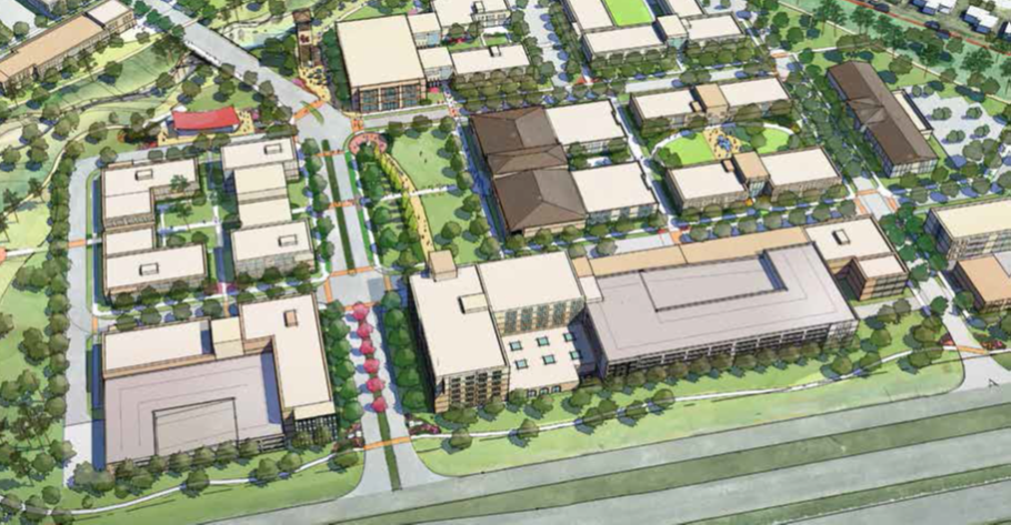 Arial rendering of Innovation Plaza