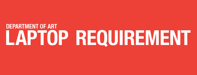 laptop requirement banner graphic red