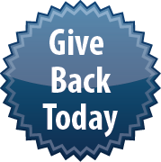 Give Back Today button