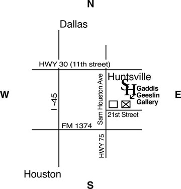 Map of the location of the Gaddis Geeslin gallery