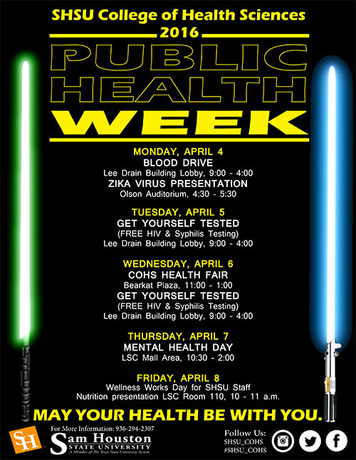 Public Health Week flyer