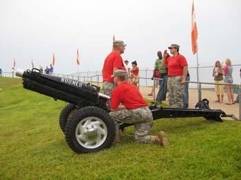 Cannon Crew Prepares to Fire