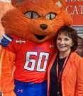 Carolyn Martinez with Sammy BearKat