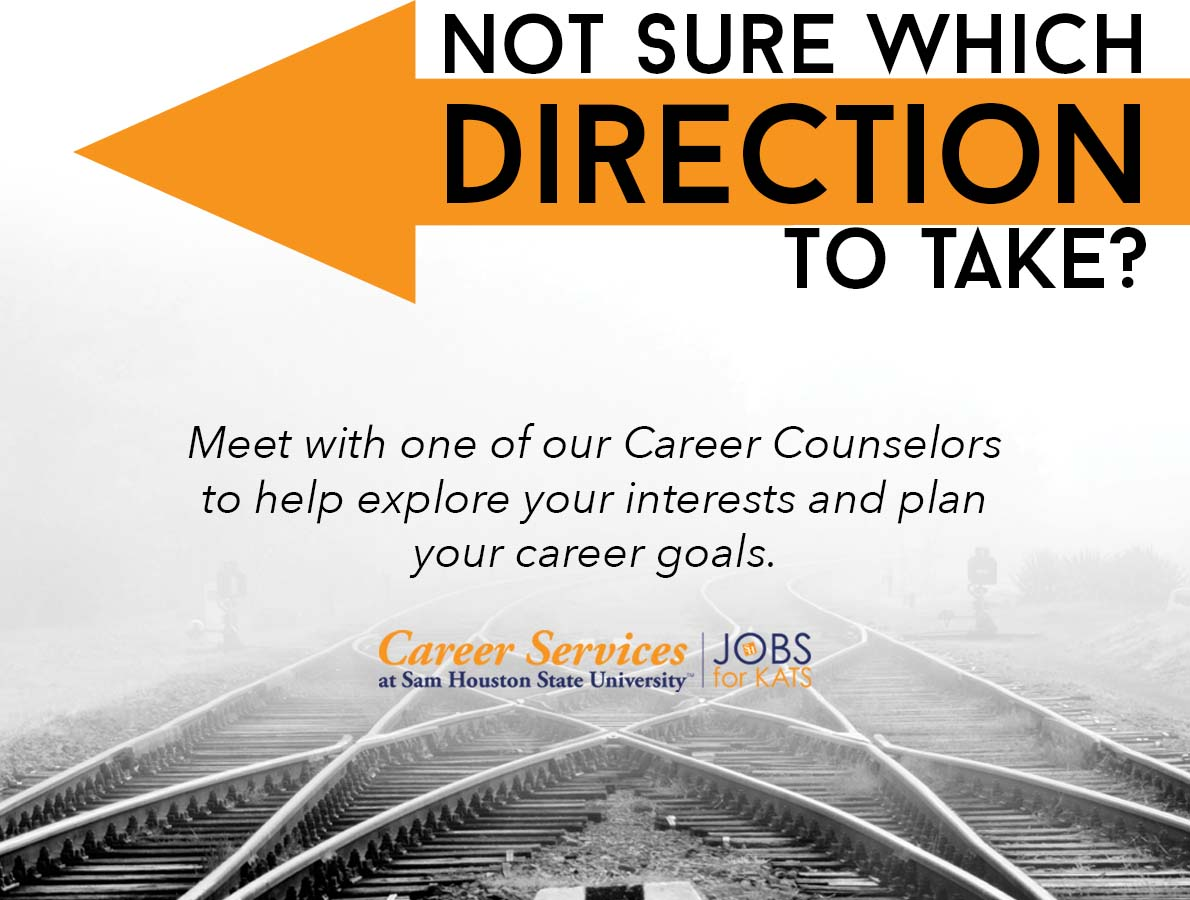 Meet with one of our Career Services Counselors to help you explore your interests and plan your career.