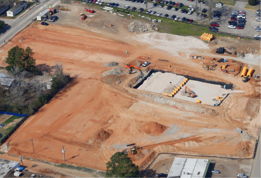 Arial View of South Res Parking Construction