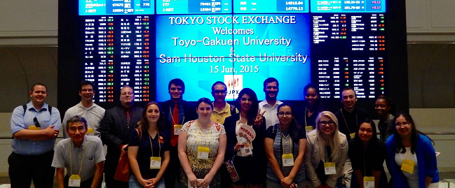 SHSU Students at the Tokyo Stock Exchange
