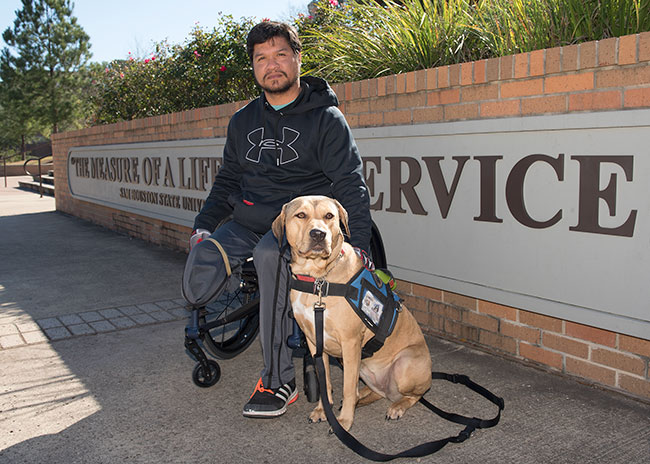 Robert Ferguson & his service dog