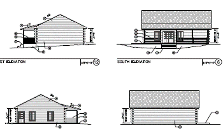 Drawings of Cabins