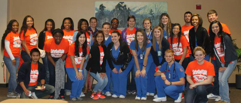 Students enrolled in the Nursing School and pre-nursing courses