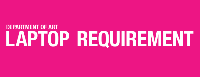 laptop requirement banner graphic pink