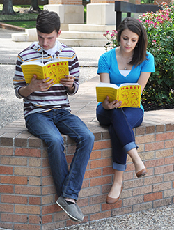 Students reading Power of Habit