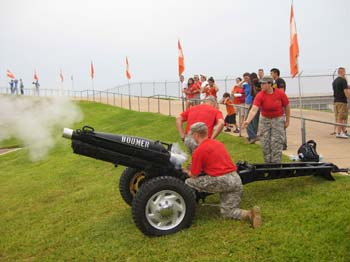 Cannon Crew Fires After a Score.