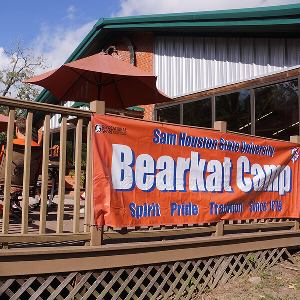 bearkat camp building from front left