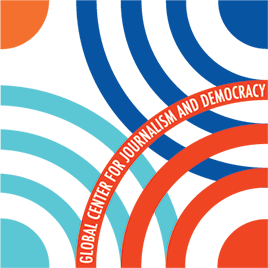 Design element of the Global Center for Journalism and Democracy