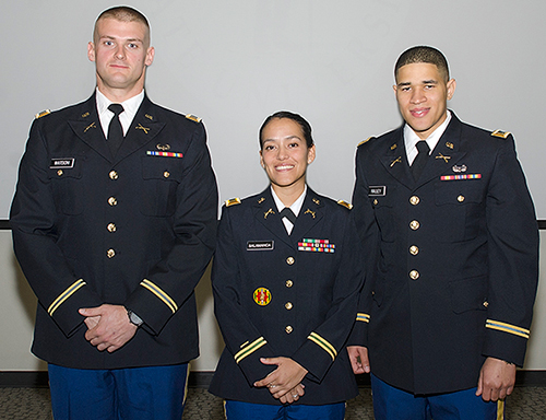 Watson, Salamanca, and Nalley in their formal uniforms