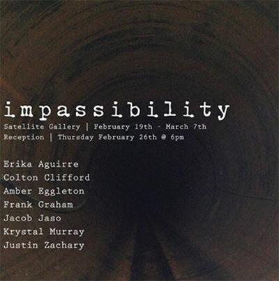 poster Impassibility exhibit
