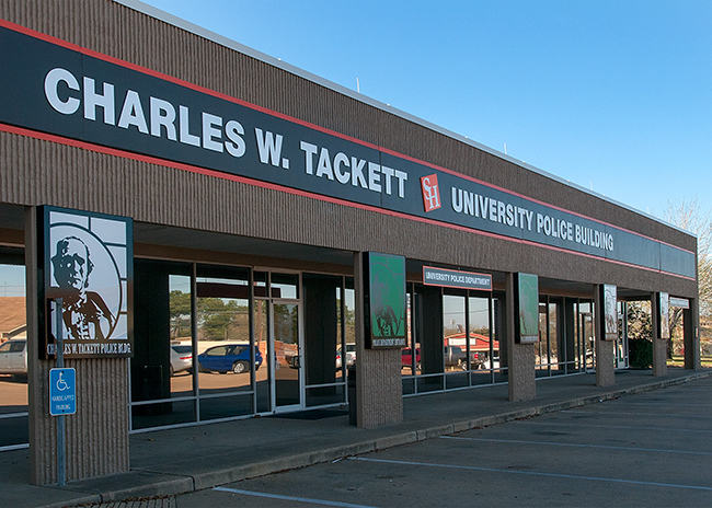 photo of the front of the newly rennovated Charles W. Tackett building