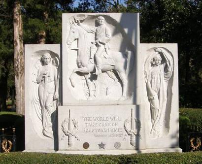 Sam Houston's grave stone