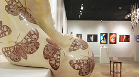 Gallery exhibits are a possible part of the degrees in the Arts Programs.