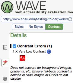 example of contrast error