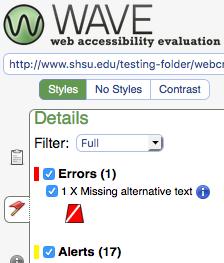 example of specific error